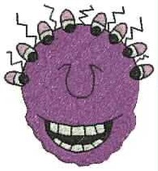 Cartoon Monster embroidery design