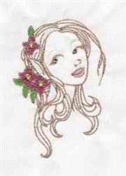 Fairy Head embroidery design