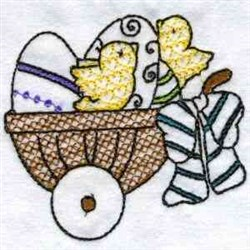 Chicks In Basket embroidery design
