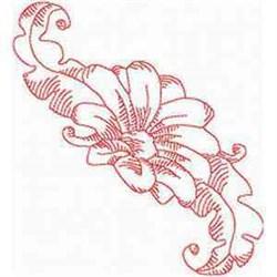 Redwork Blossom embroidery design
