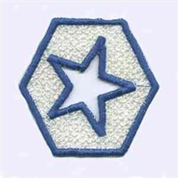 Fireworks Star embroidery design