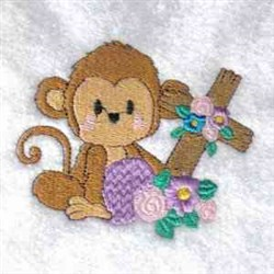 Monkey & Cross embroidery design