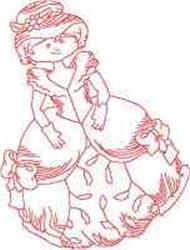 Big Dress Lady embroidery design