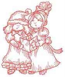 RW Carolers embroidery design