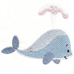 Cartoon Whale embroidery design