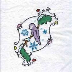 Christmas Bird embroidery design