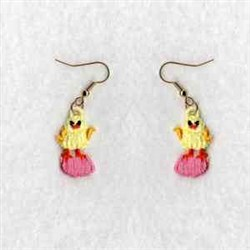 FSL Earring Chickens embroidery design