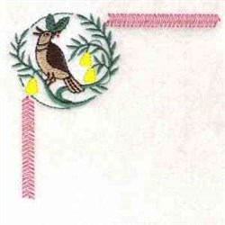Partridge Corner embroidery design