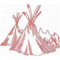 RW Teepee embroidery design