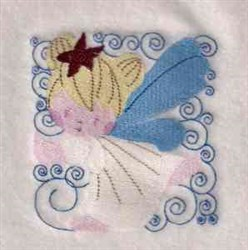 Fairy Quilt Block embroidery design