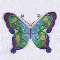 Colorful Butterfly embroidery design