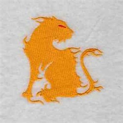 Flame Cat embroidery design