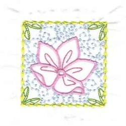 Divine Flower Square embroidery design