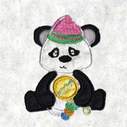 Applique Panda embroidery design