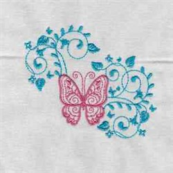 Butterfly Vine embroidery design