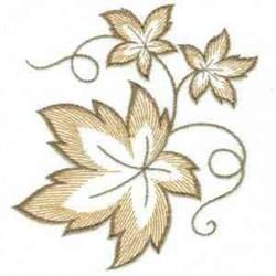 Leaf Swirls embroidery design