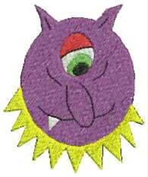 One Eye Monster embroidery design