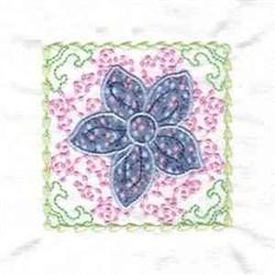 Divine Flower Block embroidery design