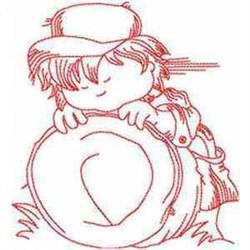 RW Nap Boy embroidery design