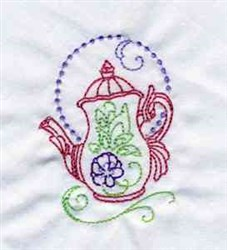 Decorative Teapots embroidery design