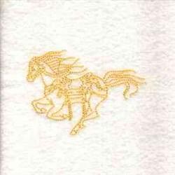 RW Horse Running embroidery design