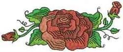 Fantastic Rose Buds embroidery design