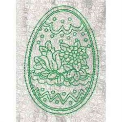 Green Easter Egg embroidery design