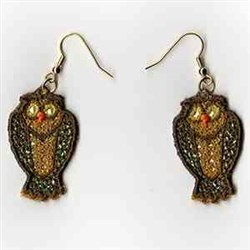 Owl Earrings embroidery design