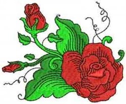 Fantastic Red Roses embroidery design