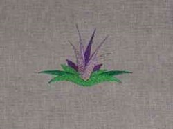 Purple Floral embroidery design