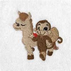 Monkey Cowboy embroidery design