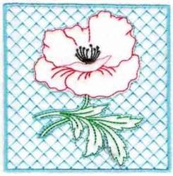 Poppy Quilt Block embroidery design