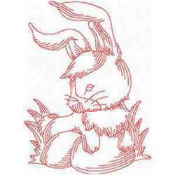 RW Easter Rabbit embroidery design