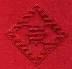 Embossed Four Hearts embroidery design