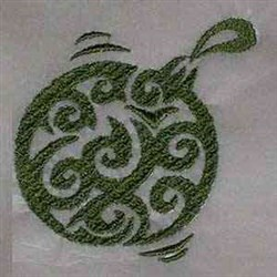 Swirl Xmas Ball embroidery design