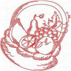 Redwork Basket embroidery design