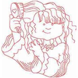 RW Brushing Hair embroidery design