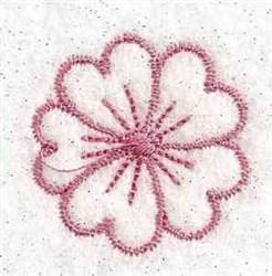 Redwork Flower embroidery design