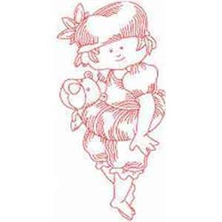 RW Little Girl embroidery design