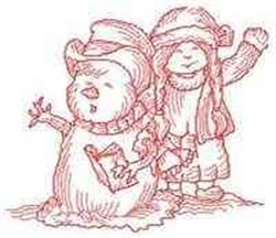 RW Girl & Snowman embroidery design
