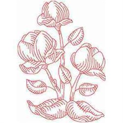 RW Magnolia embroidery design