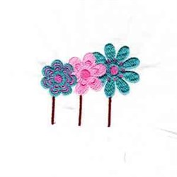 Doodle Flowers embroidery design