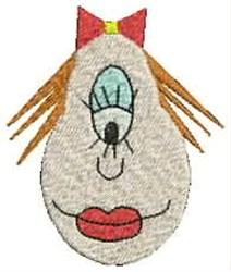 Girl Alien embroidery design