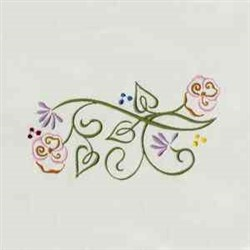 Heirloom Floral embroidery design