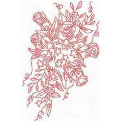 RW Rose Bouquet embroidery design