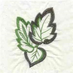 Open Work Leaves embroidery design