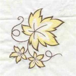Yellow Fall Leaves embroidery design