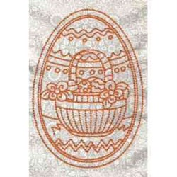 RW Floral Basket Egg embroidery design