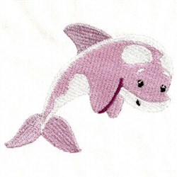 Pink Dolphin embroidery design