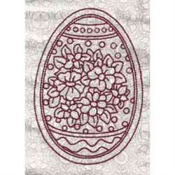 Flowered Egg embroidery design